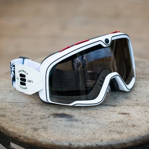 100% Barstow Legend Goggle - Death Spray - Black & White (side)