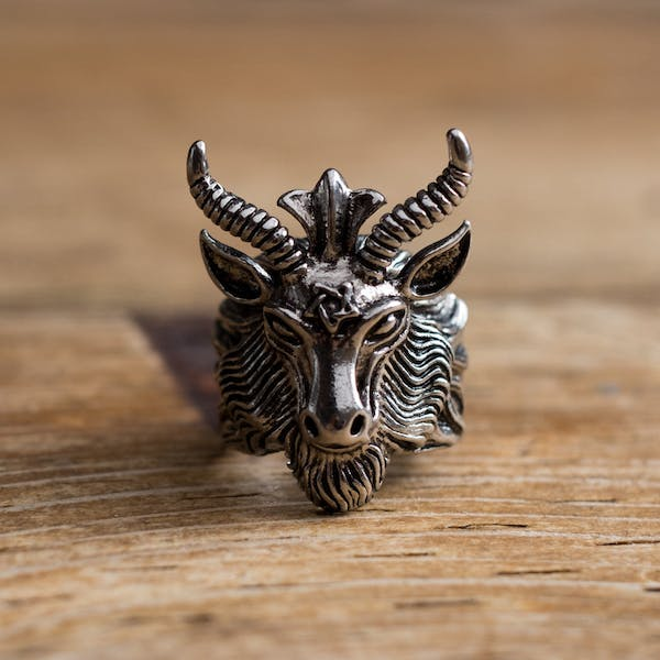 Baphomet Ring - Silver