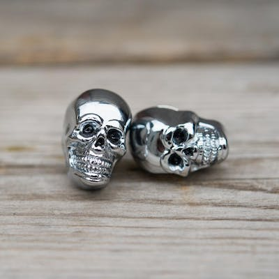 Skull License Plate Bolts