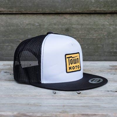 16a102bd49f Town Moto Bolt Logo Mesh Hat