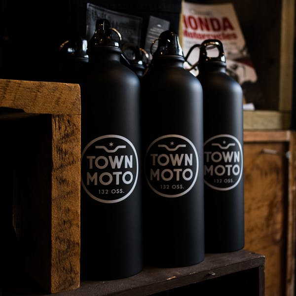 Town Moto Logo Stainless Steel Bottle