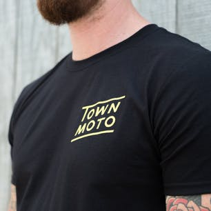 Town Moto Moto Heart T-Shirt - Black (chest logo)