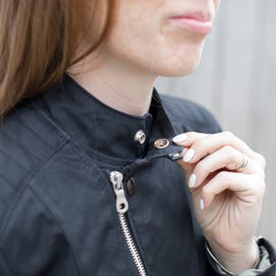Vanson Womens Mota Jacket Collar Detail