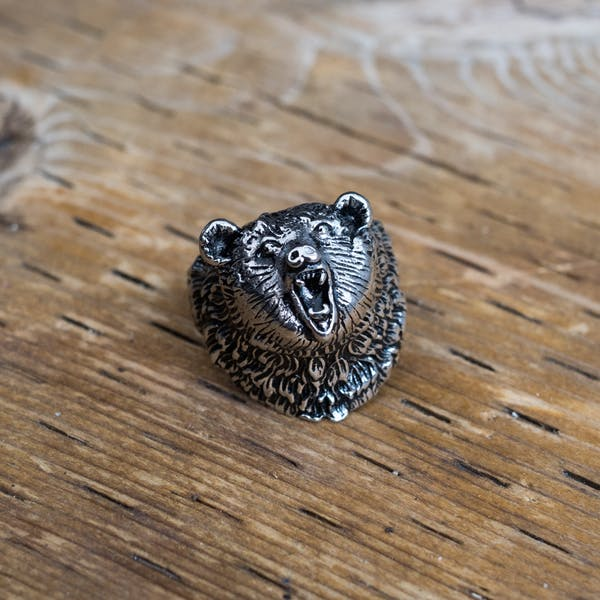 Wild Bear Ring - Silver