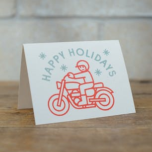Town Moto Card, Happy Holiday