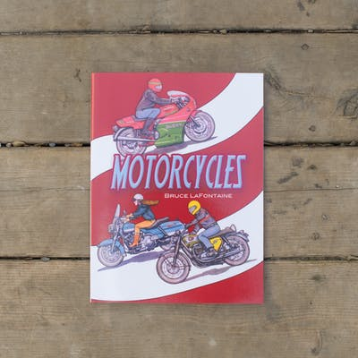 Motorcycles Coloring Book