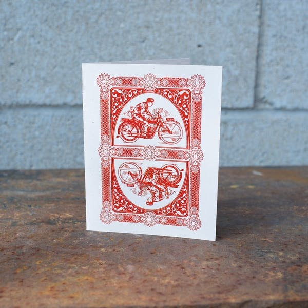 Town Moto Card, Vintage Playing Card