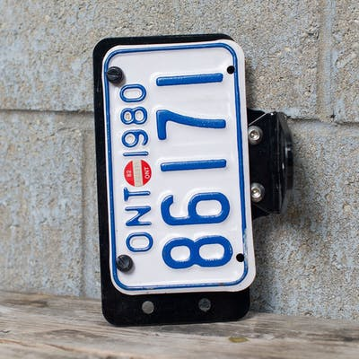 T.C. Bros Side Mount License Plate Bracket - Black