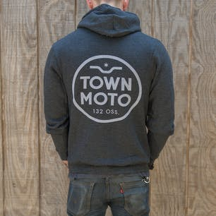 Town Moto Logo Zip Up Hoody