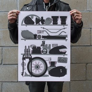 Town Moto Soul Seekers II Art Print