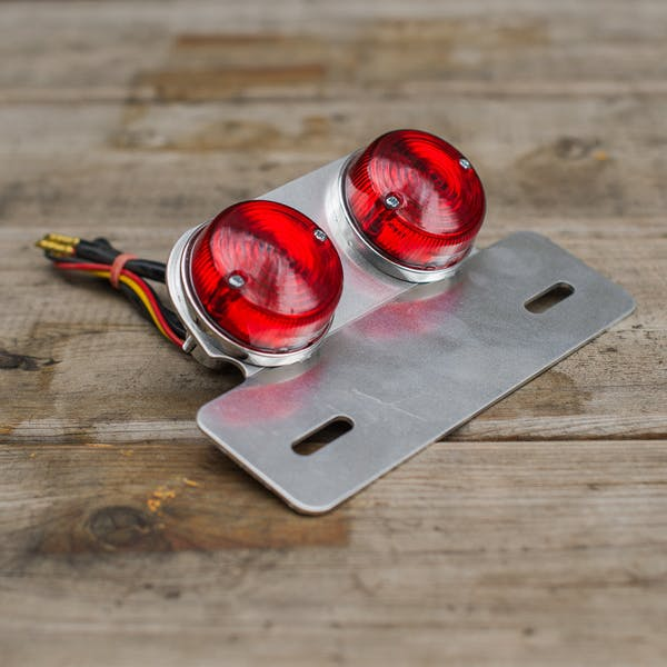Classic Dual Round Tail Light, Chrome