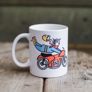 Town Moto Flying Barry Mug