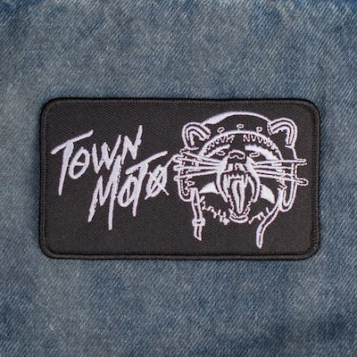Town Moto x Stay Outside Racoon Ripper Patch - Black & White